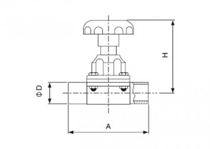 Dimension of Sanitary Welded Diaphragm Valve – 3A Series