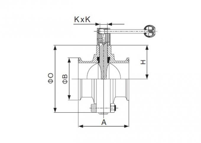 Dimension of Sanitary Clamped Butterfly Valve – ISO/IDF Series