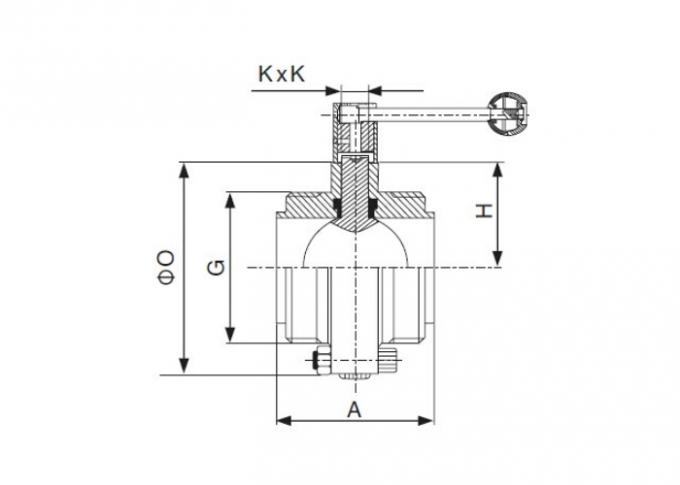 Dimension of Sanitary Threaded Butterfly Valve – ISO/IDF Series