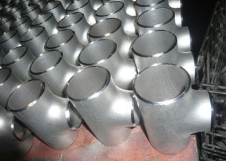 China 2 Stainless Steel Pipe Fittings ASTM TP304 / 304L Butt Weld Fittings Tees supplier