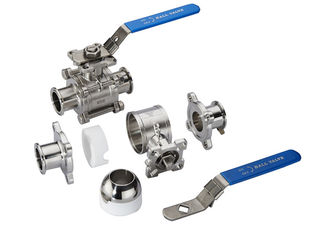 China Handle / Pneumatic Stainless Steel Valves High Strength Precise Dimension supplier