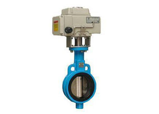 China T304 , T316L Stainless Steel Sanitary Valves - Electric Actuated Sanitary Threaded Butterfly Valve supplier