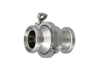 China AISI 316L 304 Stainless Steel Sanitary Valves Male / Female Threaded Check Valve supplier