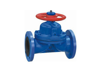 China DN80 Rubber Diaphragm PTFE Lined Valves  Type Non - Rising Stem Chain Wheel Operation supplier