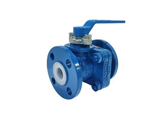 China Fluid System Teflon Lined Ball Valve , Stainless Steel Pfa Lined Ball Valves supplier