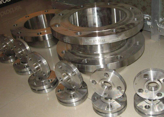 ASTM A / SA182  WN / SW  Flanged Steel Pipe Fittings , Custom Stainless Steel Blind Flange