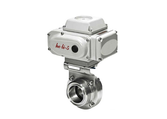 China DC 1 - 5V T304 T316L Electric Actuated Butterfly Valve , Electrically Operated Butterfly Valve factory
