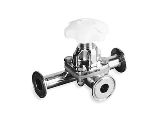 China 3 Way Diaphragm Stainless Steel Valves 1~ 2 Inch Food Grade For Pharmaceutical Industry factory