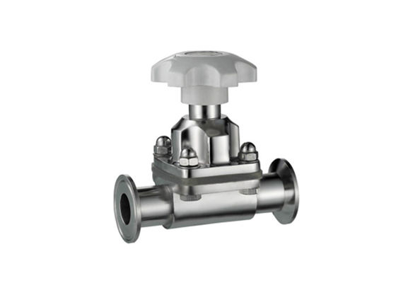 China Tri - Clover / Clamp Diaphragm Stainless Steel Valves EPDM Sealing For Food / Brewery factory