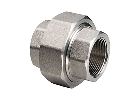 ASTM A182 F304 Forged Stainless Steel Pipe Fittings Female NPT Threaded Union